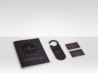 Set of print materials for hotels